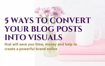 5 Ways to Convert Your Blog Posts into Visuals